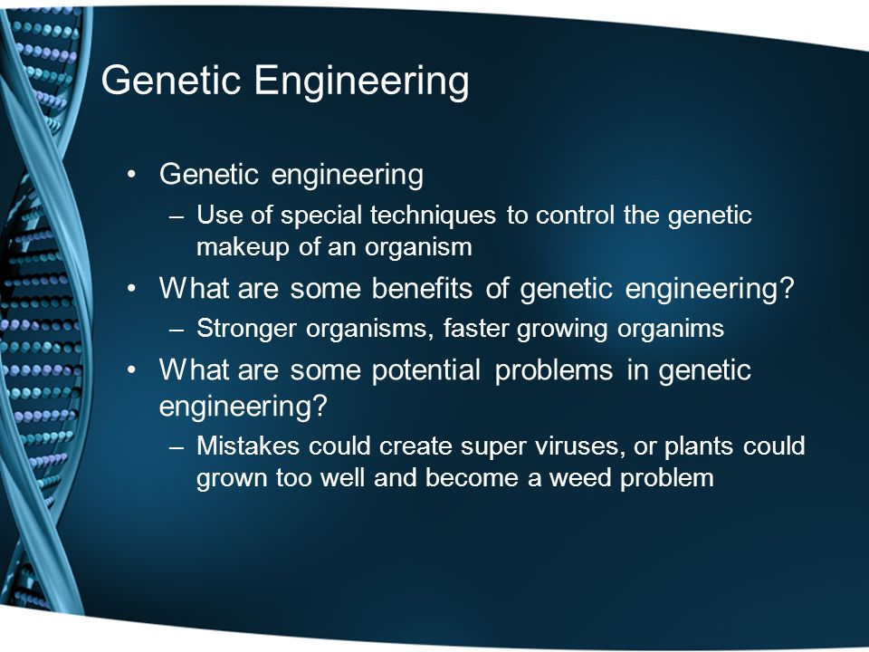 selective breeding and genetic engineering essay 1 biotechnology and genetic engineering of both plants this is not entirely different from selective breeding that improves the objective of this essay.