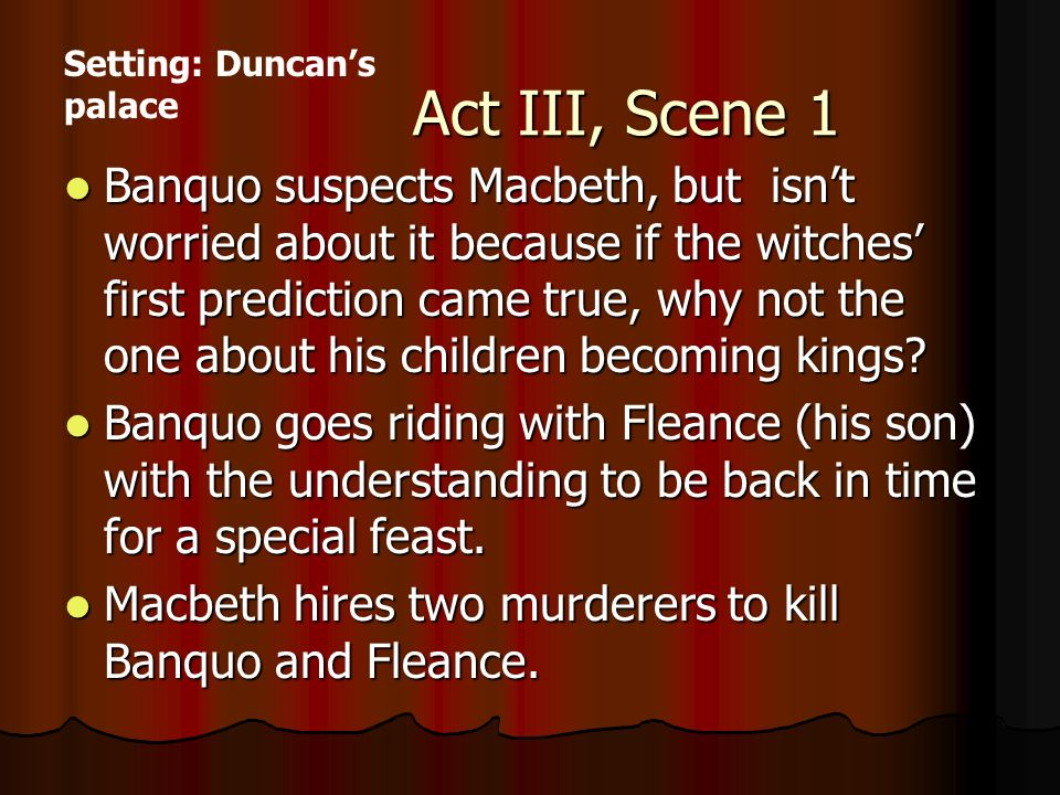 macbeth convince murderers to kill banquo Get an answer for 'how does macbeth try to convince the murderers to target banquo' and find homework help for other macbeth questions at enotes.