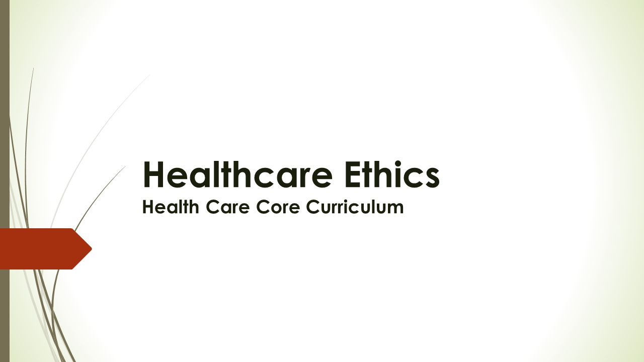 ethics in health care Ethics services at providence health care since the founding sisters established the first facilities in the 1890's that would later become providence health care (phc), ethical reflection has been a cornerstone of who we are and what we do while, grounded in the moral teaching and traditions of the roman catholic.