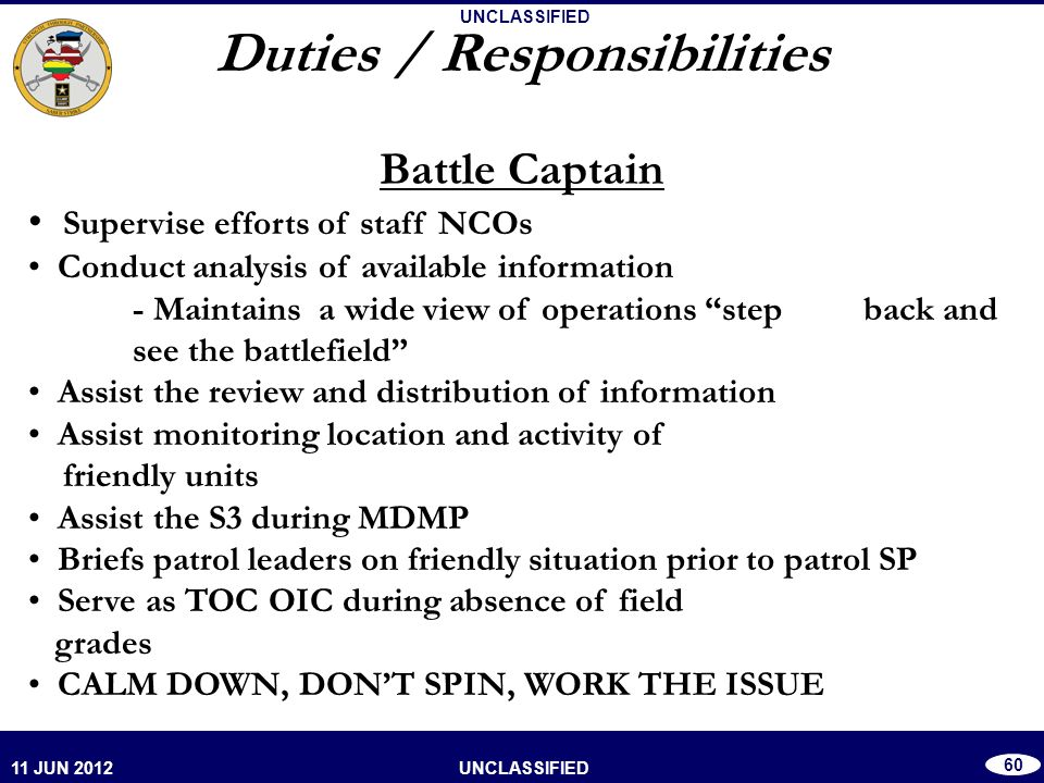 nco duties and responsibilities