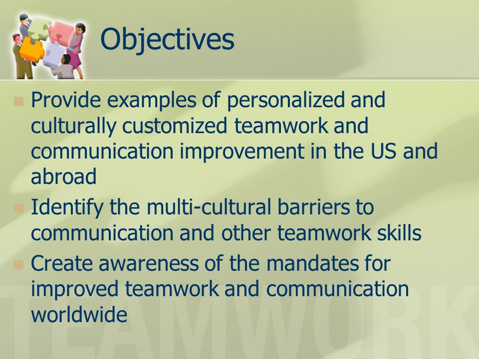 examples of teamwork skills