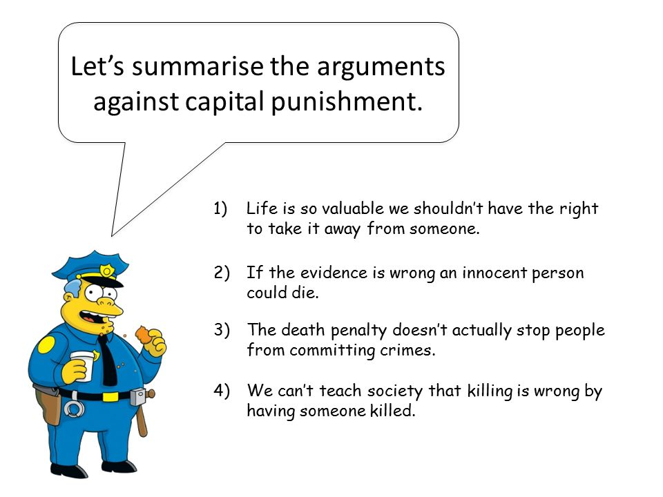 Capital Punishment: The arguments for and against