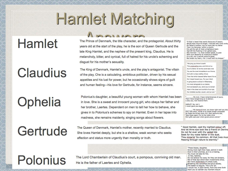 Analytical essay hamlet claudius