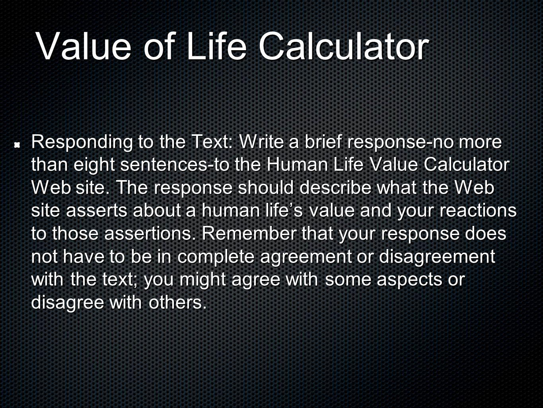 Value of life essay erwc