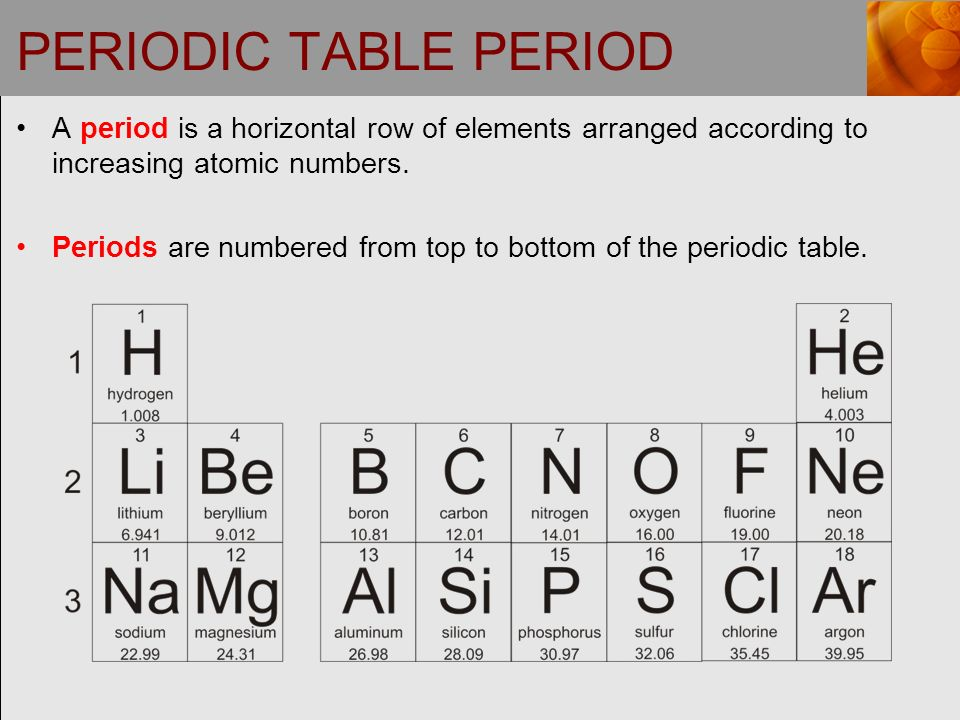 Chapter 3 electronic structure and the periodic law ppt video 6 periodic table period a period is a horizontal row of elements arranged according to increasing atomic numbers urtaz Images