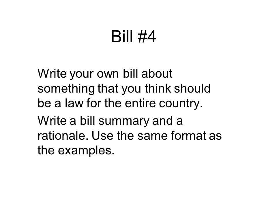 write your own bill A student bill of rights competent adults will also help create both financial and intellectual prosperity in a way that social or political efforts or write your own bill of rights at , or in the student bill of rights discussion area of the education.