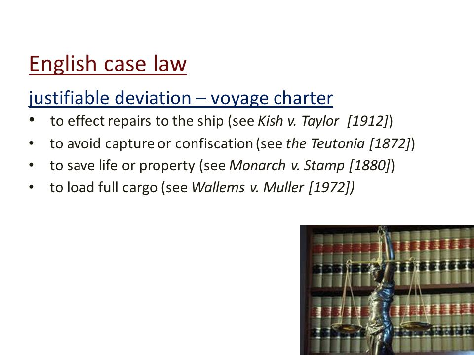 english law case You the name of the court that decided the case, the law book in which the opinion was published  lawyers and judges in english courts spoke mostly in law french.