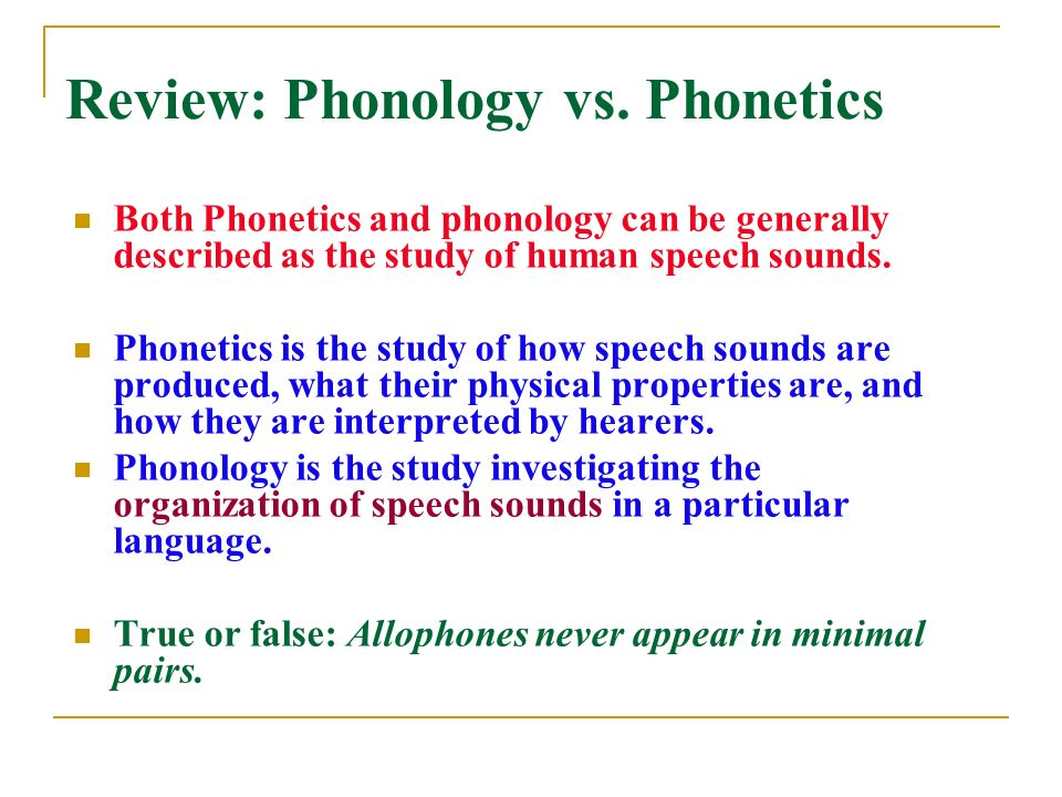 phonetics and phonology study of the