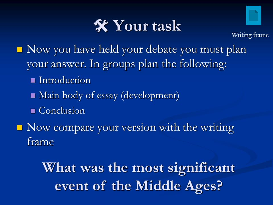 starter activity what makes an historical event significant ppt  what was the most significant event of the middle ages