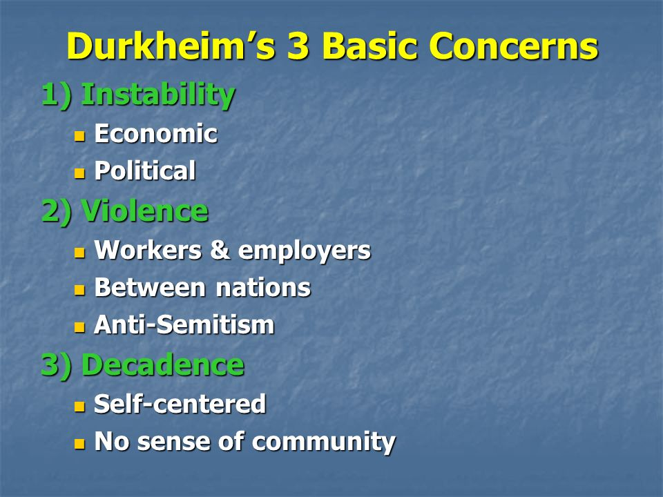 durkheim and the dynamic density Dynamic density in Émile durkheim's writings on the emergence of organic solidarity from mechanical solidarity, he identified certain conditions for the transition to the former: volume (or population growth), the concentration of people, and finally the increase in the intensity of communication which would emerge out of these two factors.