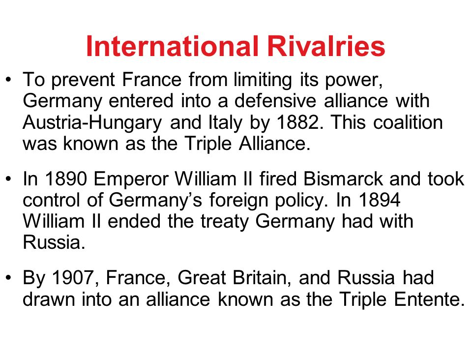 What was the Foreign Policy of Bismarck?