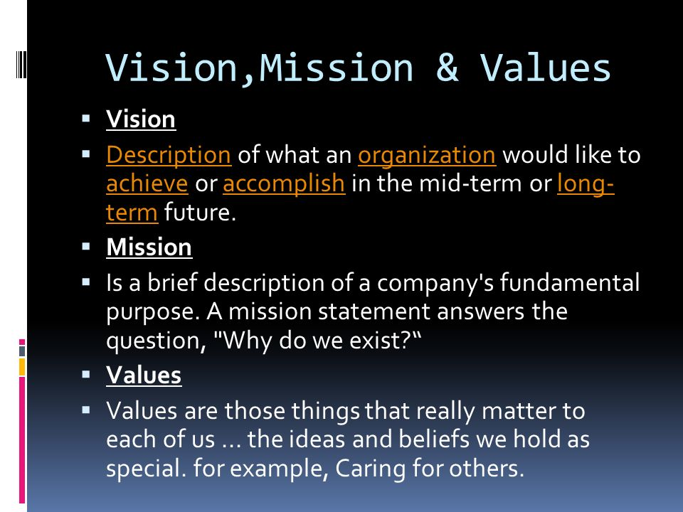 Vision,Mission & Values