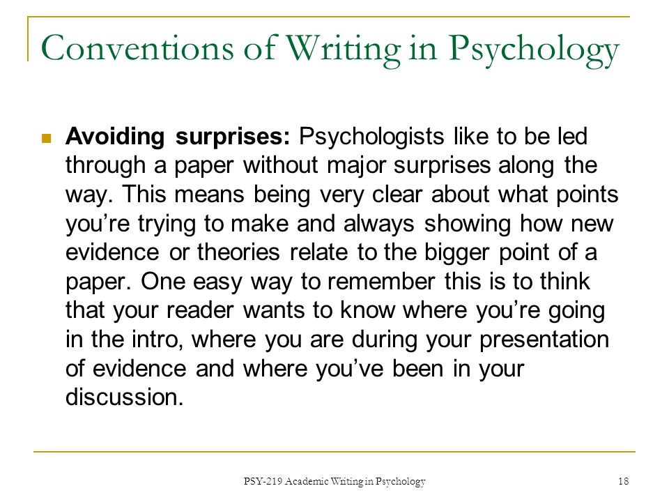 Writing Papers in Psychology: A Student Guide to