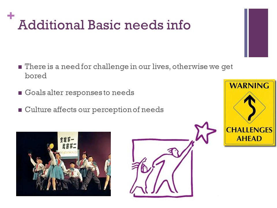 Additional Basic needs info