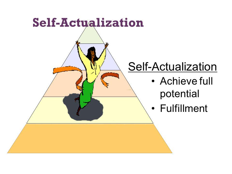 Self-Actualization Self-Actualization Achieve full potential