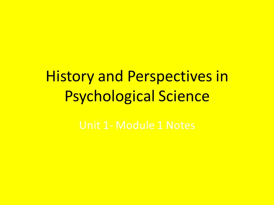 unit 8 phychological perspectives