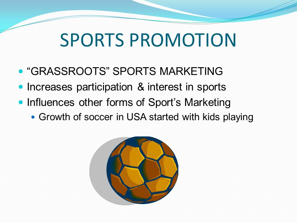 sports marketing promotion Sports email marketing is a great way to provide game schedules, promotions, and player bios you should still focus on making your message concise and not too wordy, but with email you have the opportunity to include more information.