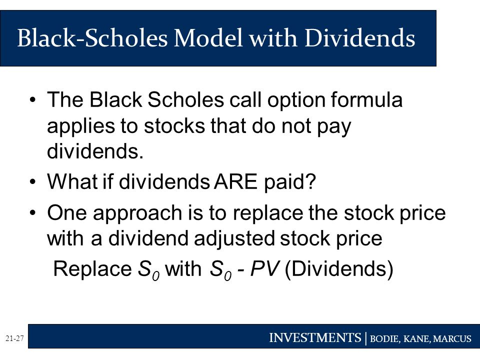 Black scholes stock options calculator