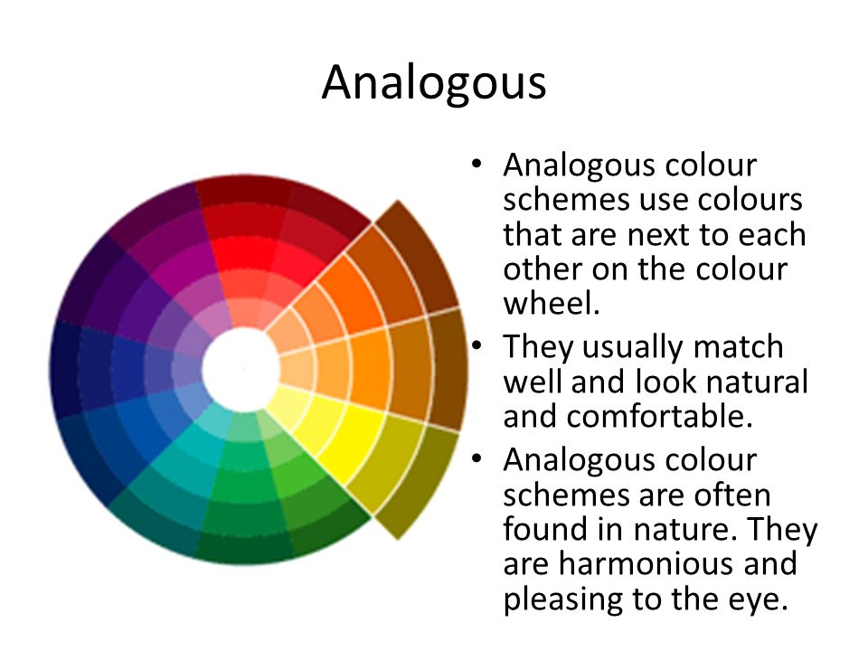 Analogous Colour Schemes Use Colours That Are Next To Each Other On The Wheel