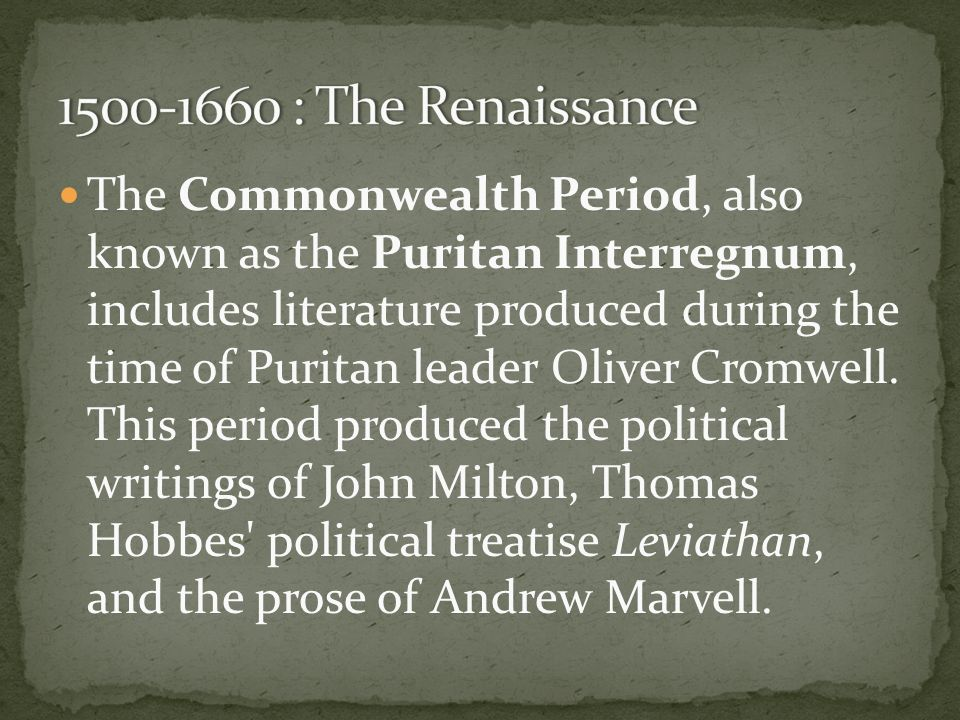 the puritan periods and age of Puritan period is because of the overarching influence of the puritans and their specific religious  age children learned their alphabet with it front and.