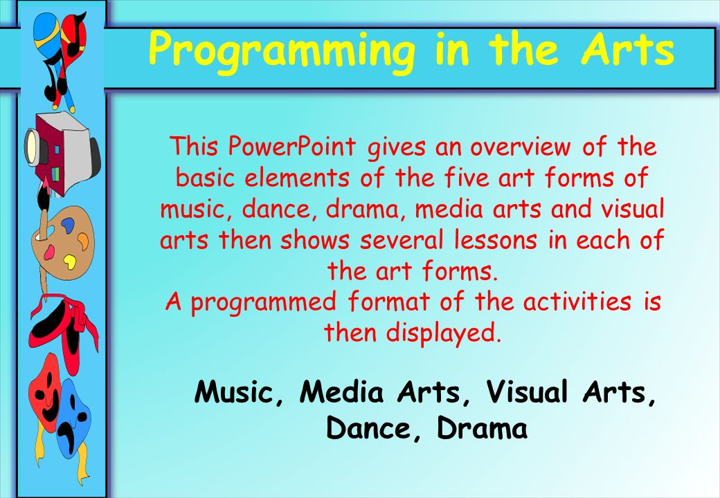 Basic Elements Of Visual Arts : Programming in the arts music media visual
