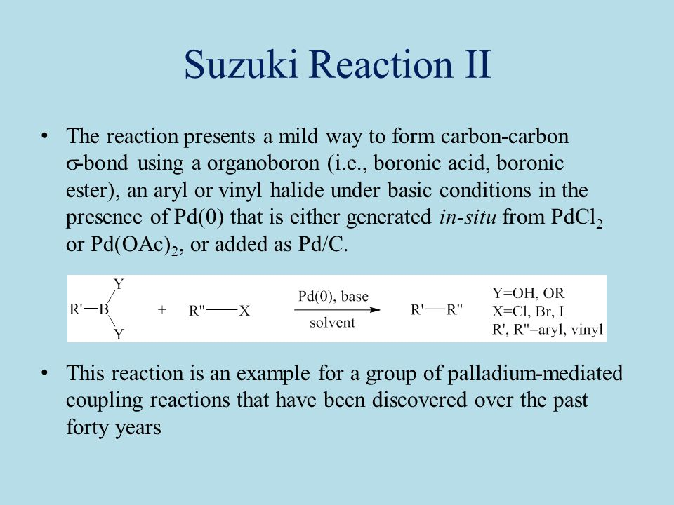 Lecture 9a Suzuki Coupling Ppt Video Online Download