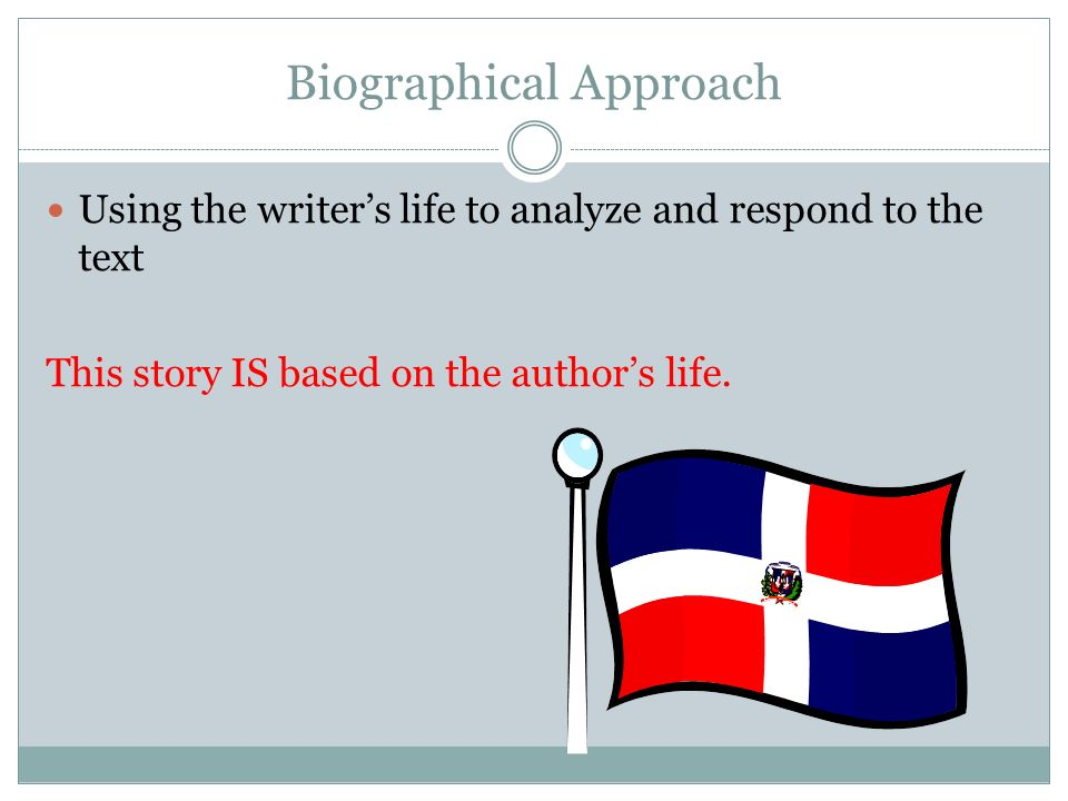 biographical approach essay A critical essay can either be summary of the contents of the reviewed material or a personal opinion and analysis of the writer about the content the usual format of a critical essay is in the form of argumentative analysis and it is primarily targeted for academic audiences.