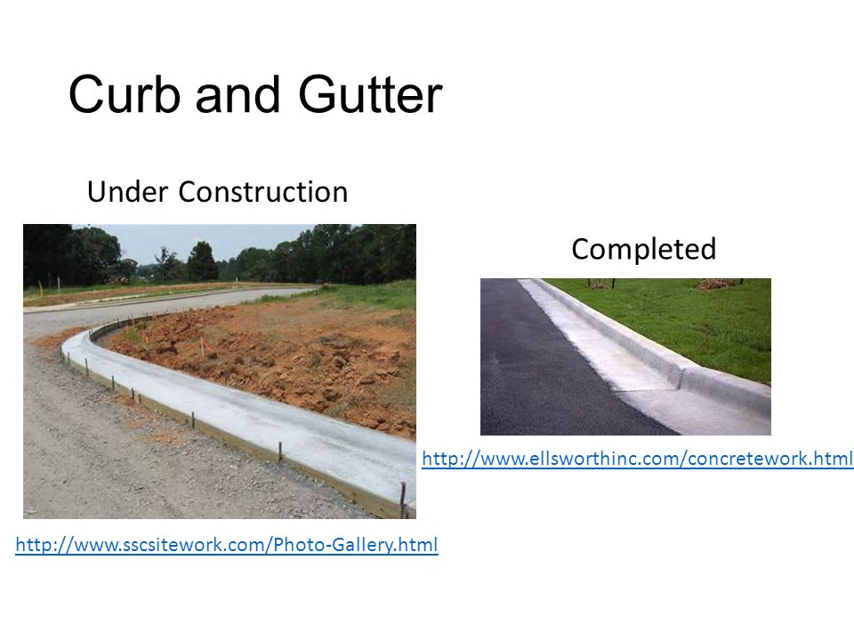 Curb And Gutter Under Construction Completed Ppt Video