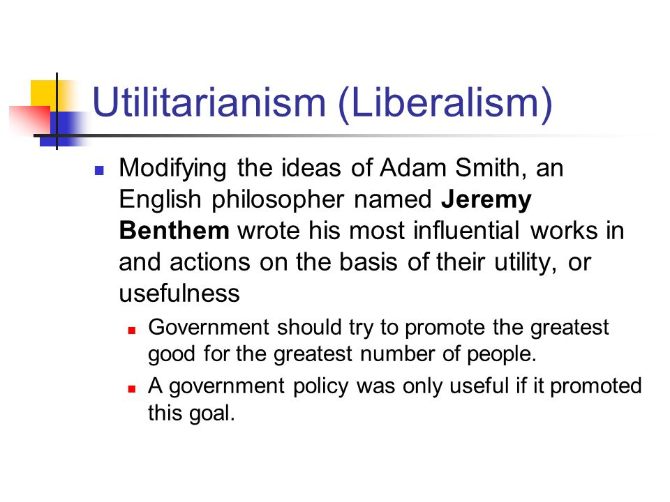 adam smith and utilitarianism Start studying ch 2 test bank learn vocabulary,  according to adam smith,  d act utilitarianism c.