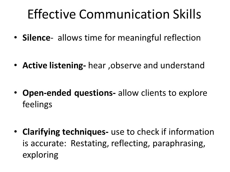 a personal reflection of communication skills Persuade others to understand our personal views build relationships interpersonal communication is the lifeblood of every relationship good relations are nurtured by open, clear and.