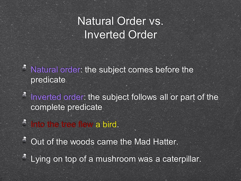 Natural Order Vs Inverted Order