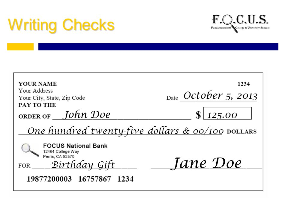 How to Write $2000 on a Check