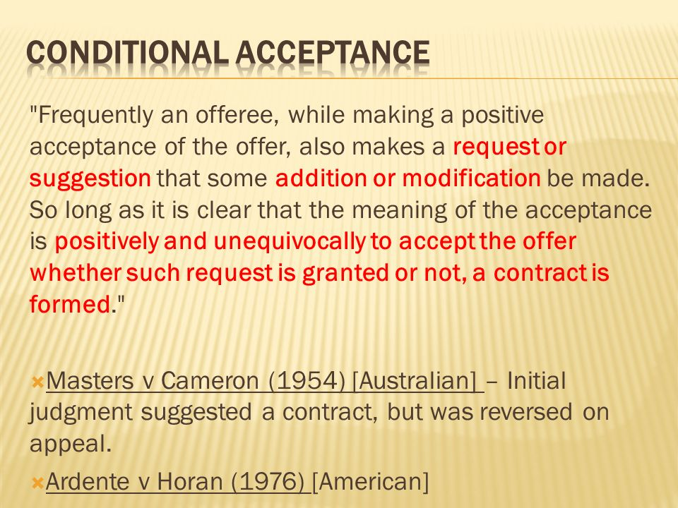 Definition Of Offer An Expression Willingness To Contract