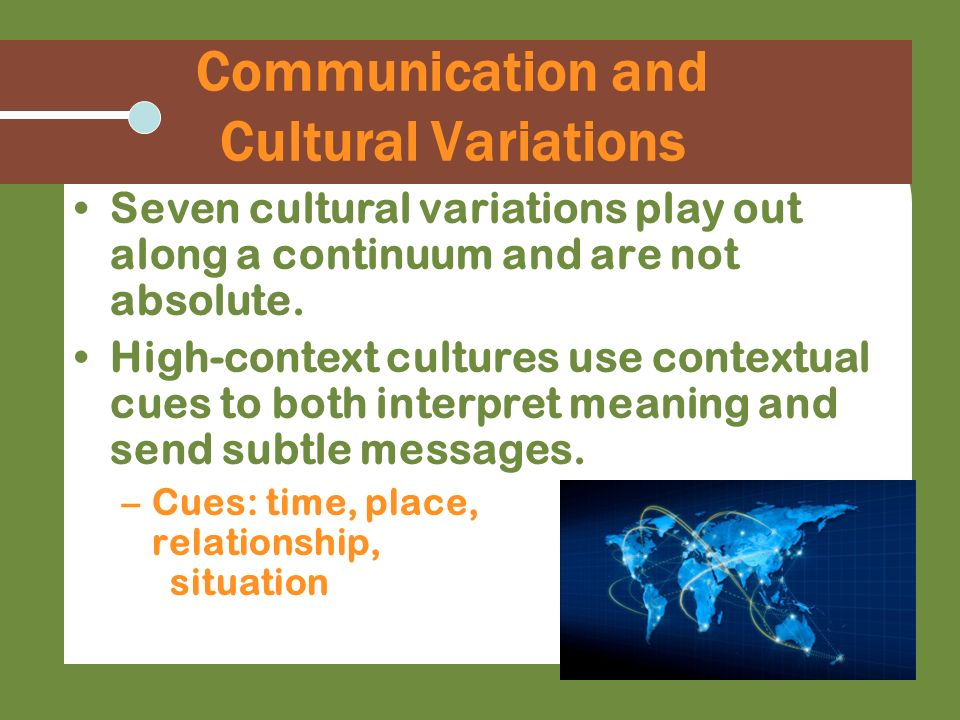 Communication and Cultural Variations