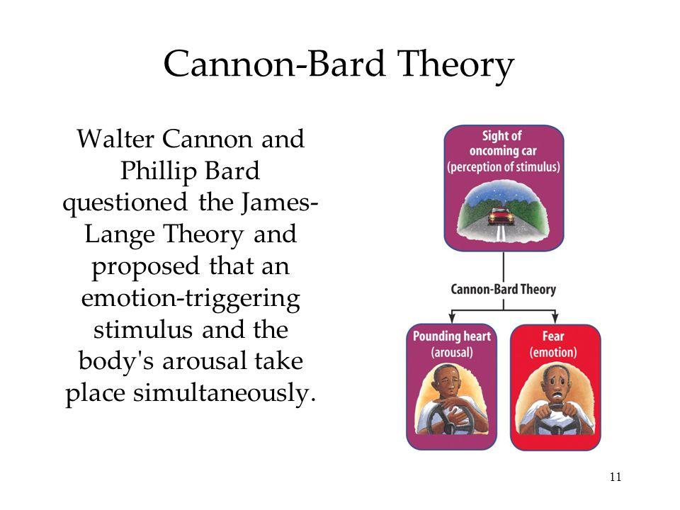 cannon bard theory vs james lange