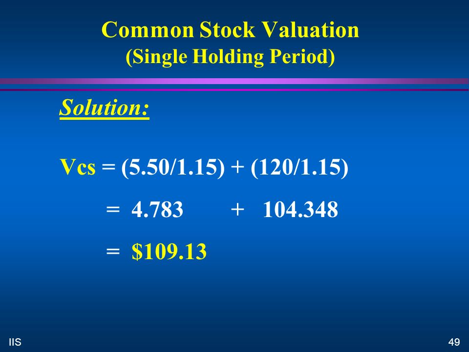 common stock valuation According to accountingbasecom, common stock is neither an asset nor a  liability it is considered equity equity is basically considered to mathematically  be.
