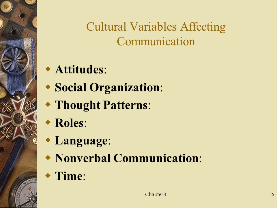 Cultural variables in Communication Channels