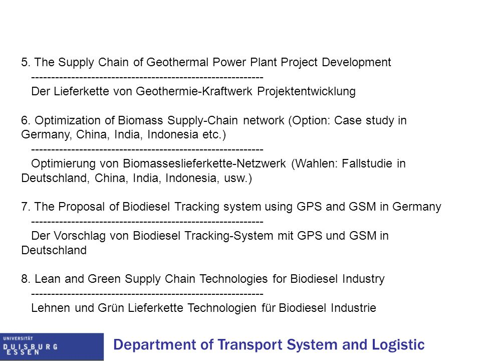 5. The Supply Chain of Geothermal Power Plant Project Development