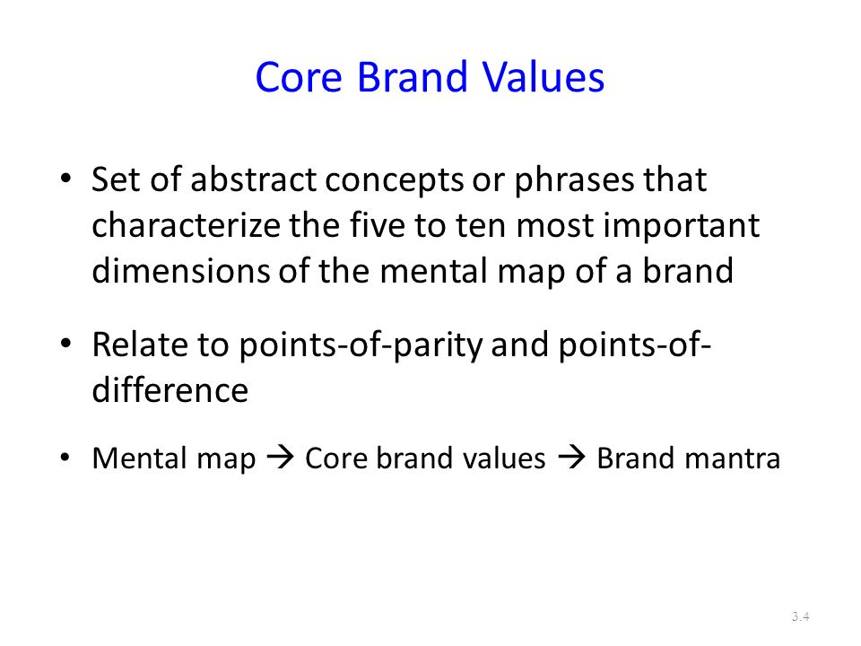 brand positioning and core values For organizational brands, missions, visions, core values and brand positioning statements are related to one another and it is advantageous for them to be approached together we try to keep mission statements to 7-25 words, vision statements to 7-15 words and core values to 5-10 values in total.