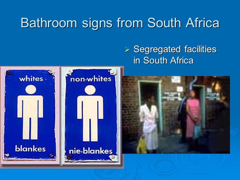 Bathroom Signs South Africa south africa - a lovely place with a sad history - ppt video