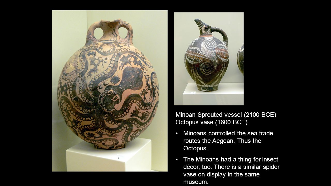 Greek art how does the art reflect the cultural values ppt 6 minoan sprouted vessel 2100 bce octopus vase reviewsmspy