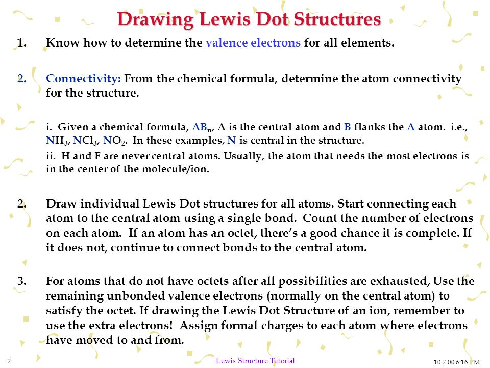 Which Lewis electron-dot diagram is correct for a #