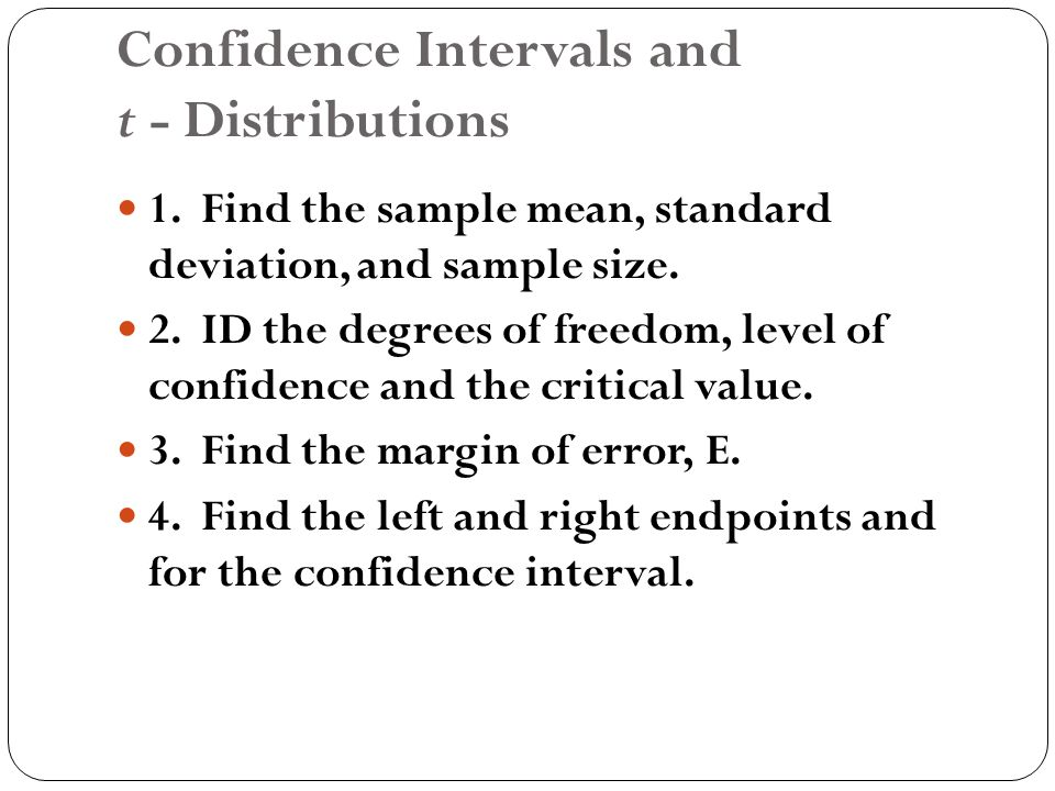CHAPTER SIX Confidence Intervals. - ppt download