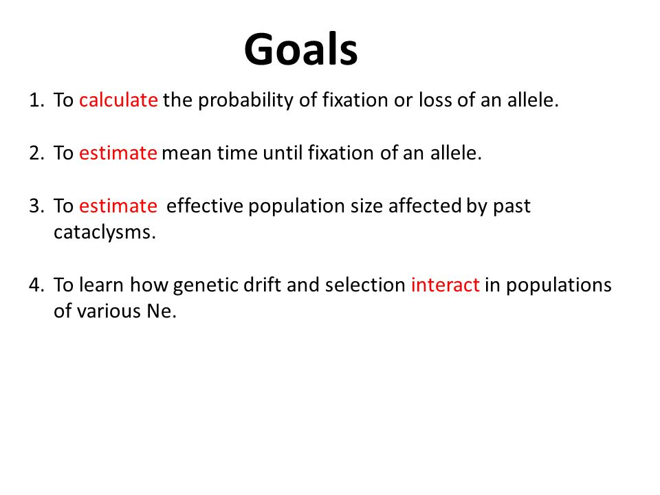 Lab 6: Genetic Drift and Effective Population Size - ppt download