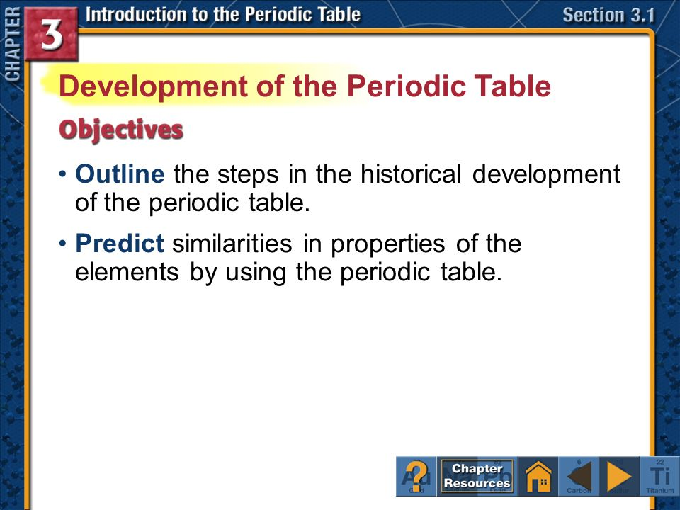 Click a hyperlink to view the corresponding slides ppt download development of the periodic table urtaz Image collections