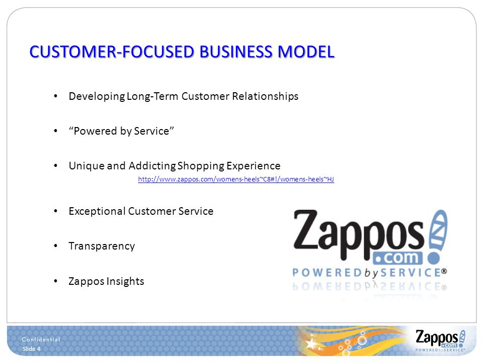 zappos customer service How tony hsieh uses relentless innovation, stellar customer service, and a staff of believers to make zapposcom an e-commerce juggernaut -- and one of the most.
