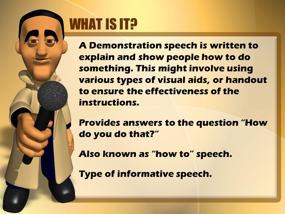 speech to inform with visual aids A public speaking supplement for university of hawaii maui community college students and all public speakers presented by university of hawaii - maui speech instructor - ron st john the public speakers' page includes information and speaking tips for public speakers in the classroom and the.