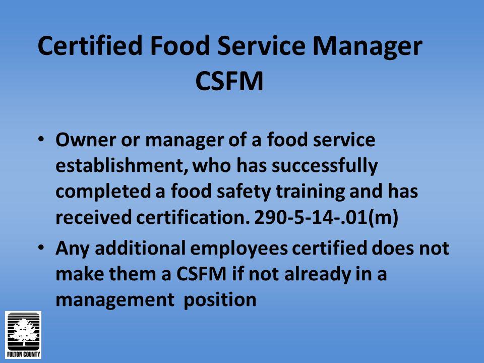 how to become a certified food safety manager