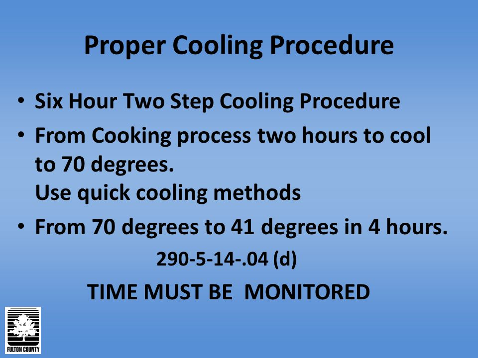 Cooling Food Properly : Food service establishment inspection report ppt video