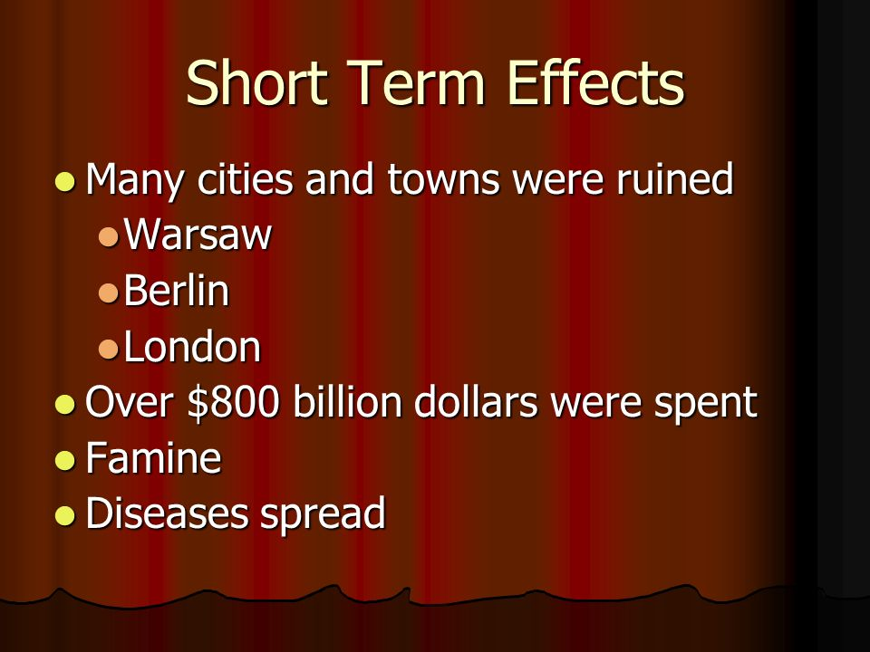 effects of ww2 Political, economic, and social effects of wwii economic social political united  states germany many factories that were able to convert from.